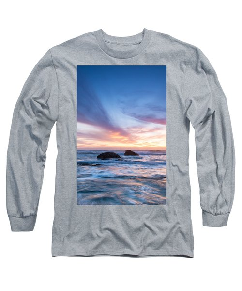 Evening Waves Long Sleeve T-Shirt by Catherine Lau