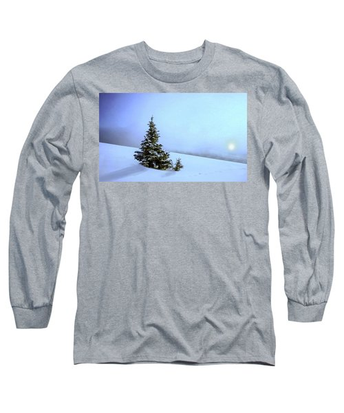 Long Sleeve T-Shirt featuring the painting Evergreen Offspring P D P by David Dehner