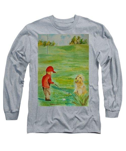 Everything Waits While I Golf Art Long Sleeve T-Shirt