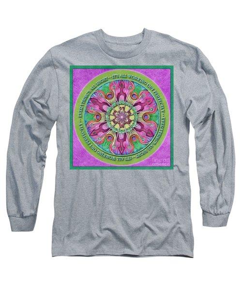 Everything's All Right Mandala Prayer Long Sleeve T-Shirt