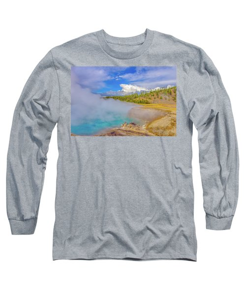 Excelsior Geyser Crater Yellowstone Long Sleeve T-Shirt