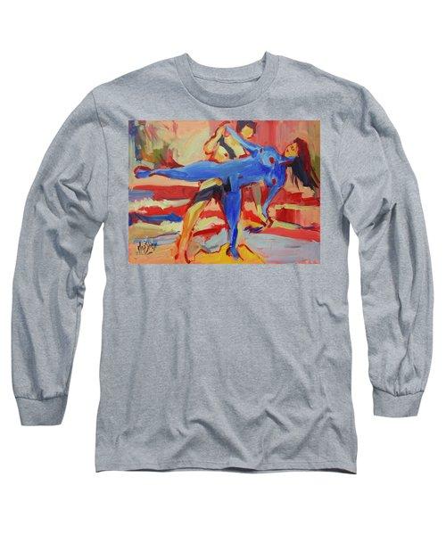 Exercising On The Beach Long Sleeve T-Shirt