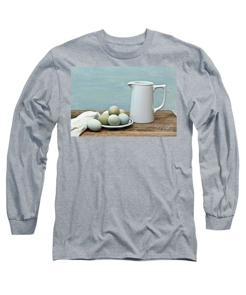 Exotic Colored Eggs With Pitcher Long Sleeve T-Shirt by Pattie Calfy