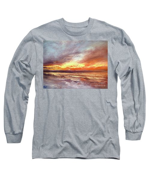 Explosion Of Light Long Sleeve T-Shirt by Valerie Travers