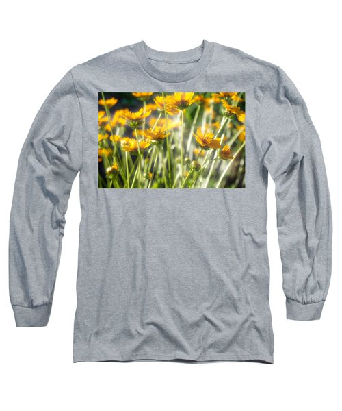 Explosion Of Yellow Long Sleeve T-Shirt