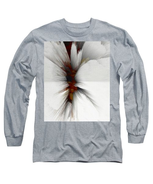 Long Sleeve T-Shirt featuring the digital art Sculptural Series Painting 51.072110windblscext1590l10110l by Kris Haas