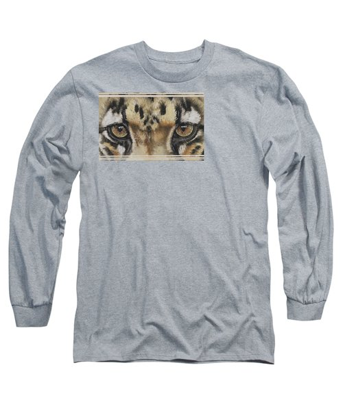 Clouded Leopard Gaze Long Sleeve T-Shirt
