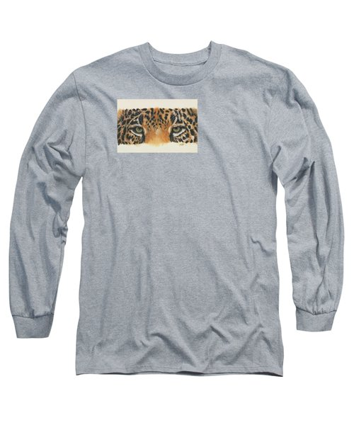 Long Sleeve T-Shirt featuring the painting Eye-catching Jaguar by Barbara Keith