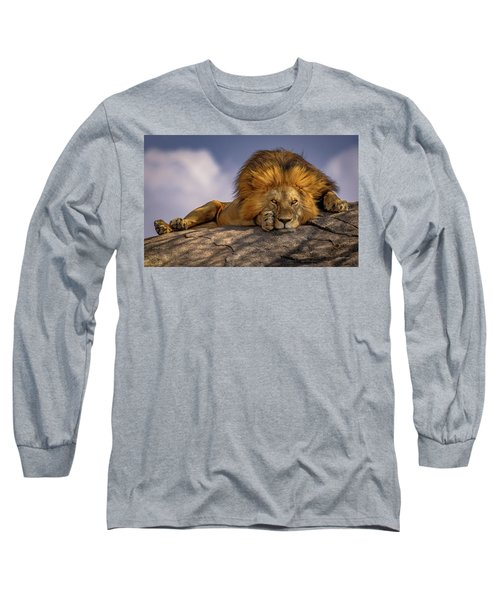 Eye Contact On The Serengeti Long Sleeve T-Shirt