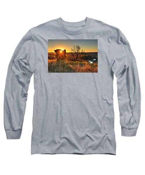Eye Of The Monolith Long Sleeve T-Shirt by Fiskr Larsen