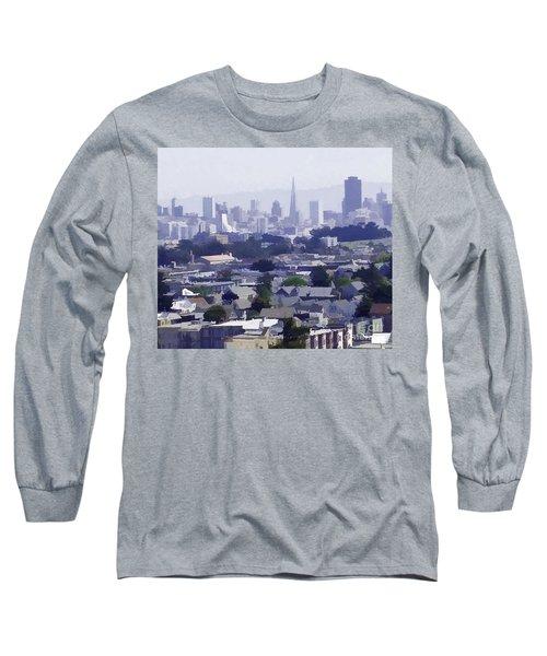 Looking East Toward San Francisco Long Sleeve T-Shirt