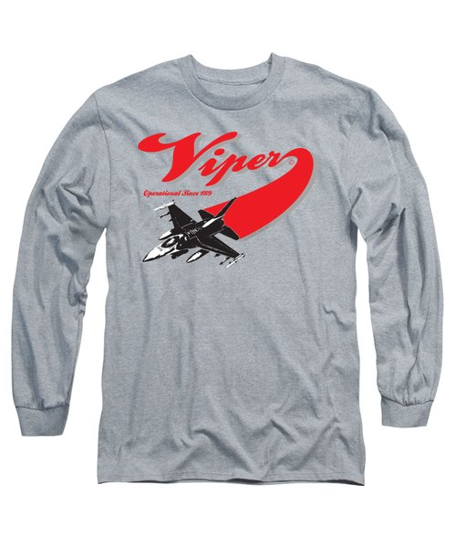 F-16 Swoop Long Sleeve T-Shirt by Clear II land Net