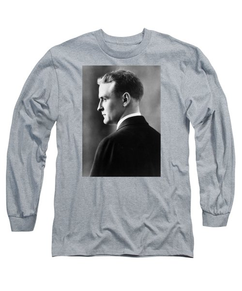 F. Scott Fitzgerald Circa 1925 Long Sleeve T-Shirt by David Lee Guss