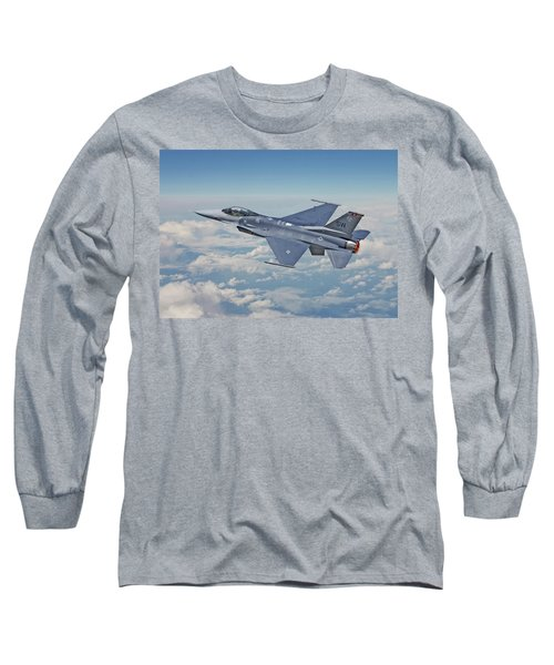 Long Sleeve T-Shirt featuring the digital art F16 - Fighting Falcon by Pat Speirs