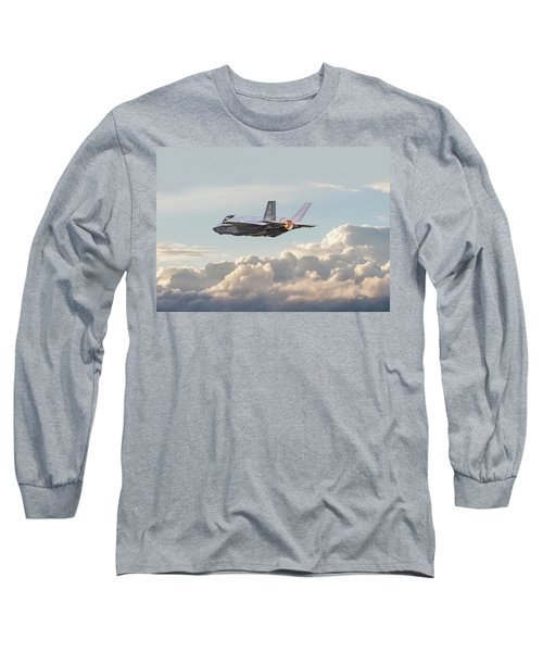 Long Sleeve T-Shirt featuring the photograph F35 -  Into The Future by Pat Speirs