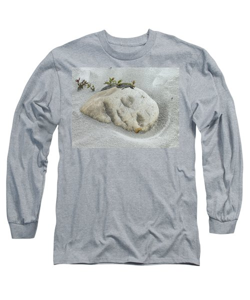 Face In The Sand At Baird Glacier Outwash Long Sleeve T-Shirt