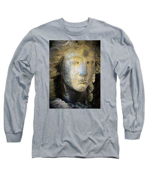 Face Of An Angel 10 Long Sleeve T-Shirt by Maria Huntley