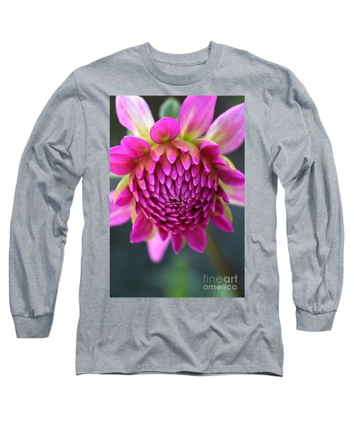 Face Of Dahlia Long Sleeve T-Shirt