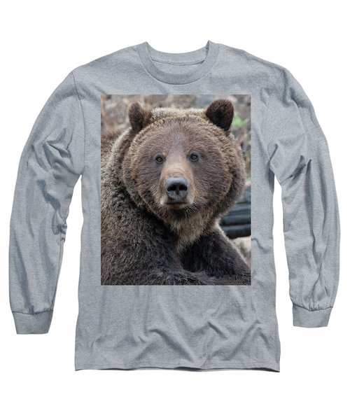 Face Of The Grizzly Long Sleeve T-Shirt