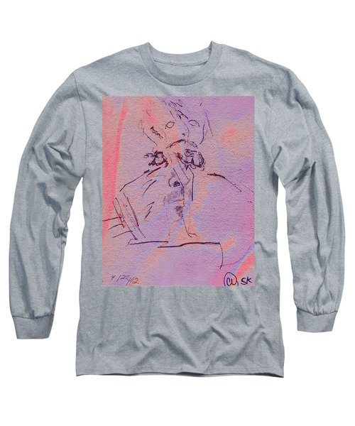 Long Sleeve T-Shirt featuring the mixed media Faces Of Trivia by Steve Karol