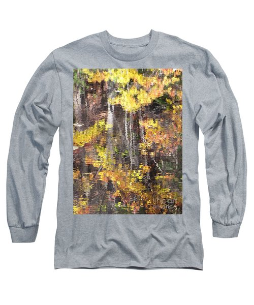 Long Sleeve T-Shirt featuring the photograph Fading Fall Water by Melissa Stoudt