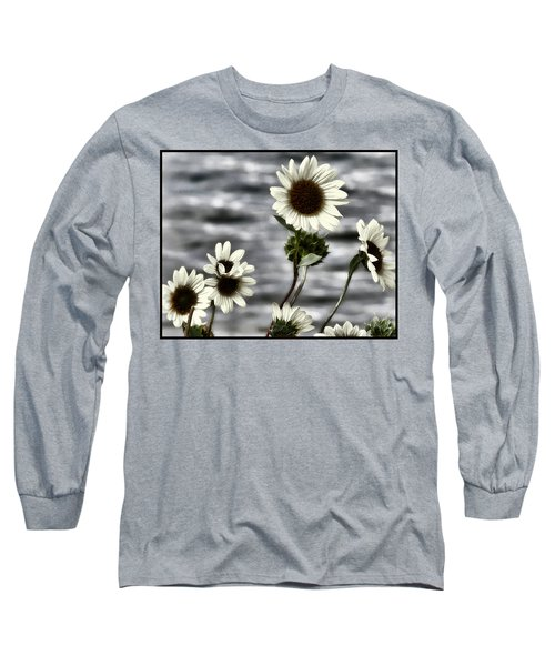 Long Sleeve T-Shirt featuring the photograph Fading Sunflowers by Susan Kinney