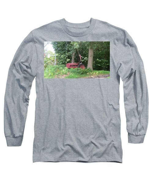 Faithful American Tractor Long Sleeve T-Shirt by Jeanette Oberholtzer