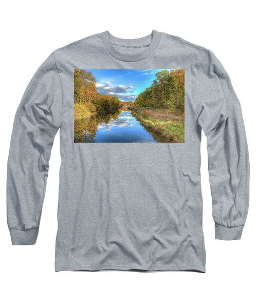 Long Sleeve T-Shirt featuring the photograph Fall At Brunswick Lake  by Brent Durken