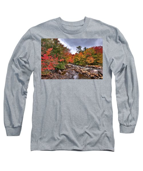 Long Sleeve T-Shirt featuring the photograph Fall At Indian Rapids by David Patterson