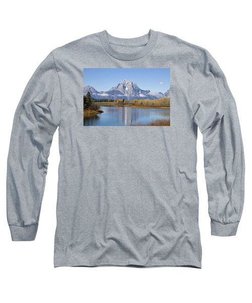 Fall At Teton -1 Long Sleeve T-Shirt by Shirley Mitchell