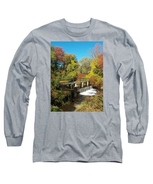 Fall At The Old Mill Stream Long Sleeve T-Shirt