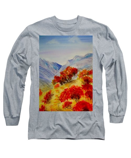 Long Sleeve T-Shirt featuring the painting Fall Color by Jamie Frier