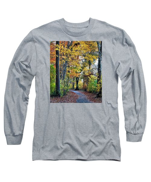 Fall Foliage Long Sleeve T-Shirt by Mikki Cucuzzo