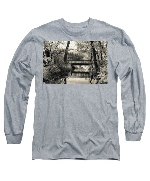 Fall In Black And White Long Sleeve T-Shirt