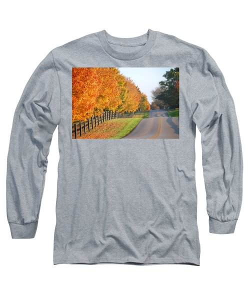 Fall In Horse Farm Country Long Sleeve T-Shirt by Sumoflam Photography
