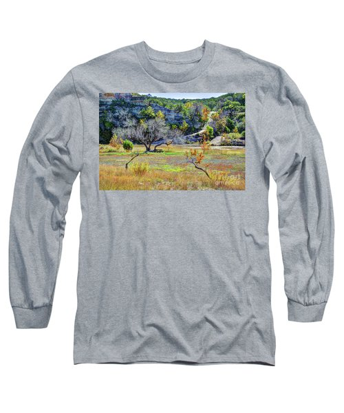 Fall In The Texas Hill Country Long Sleeve T-Shirt
