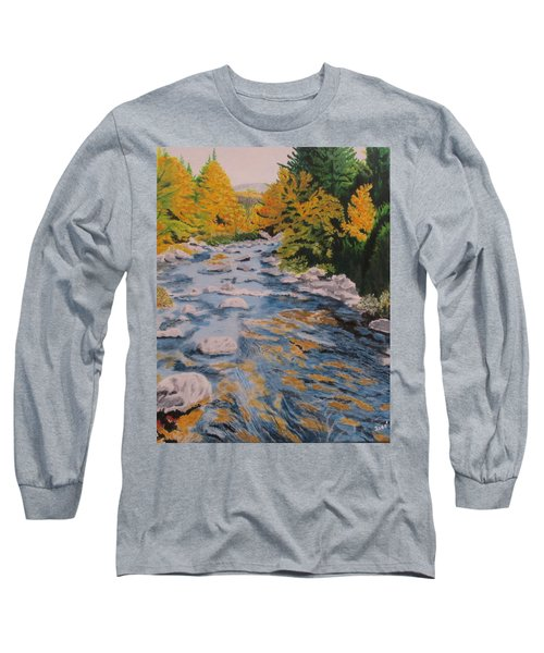 Long Sleeve T-Shirt featuring the painting Fall Is Coming by Hilda and Jose Garrancho