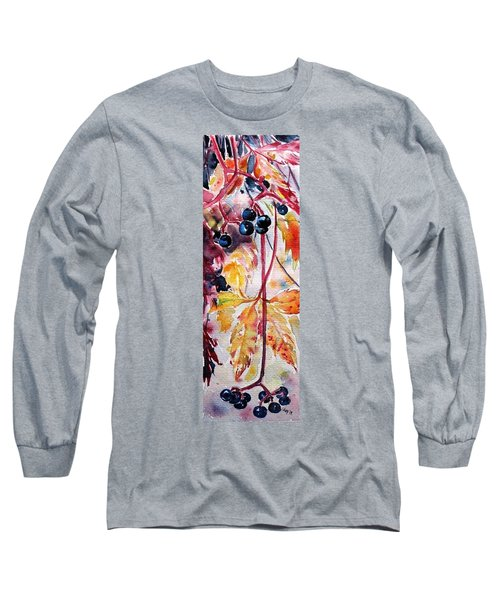 Long Sleeve T-Shirt featuring the painting Fall by Kovacs Anna Brigitta