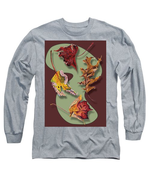 Fall Leaves Card Long Sleeve T-Shirt