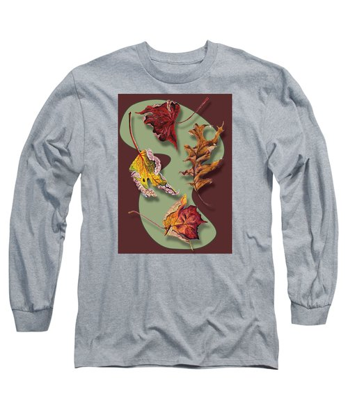 Fall Leaves Card Long Sleeve T-Shirt