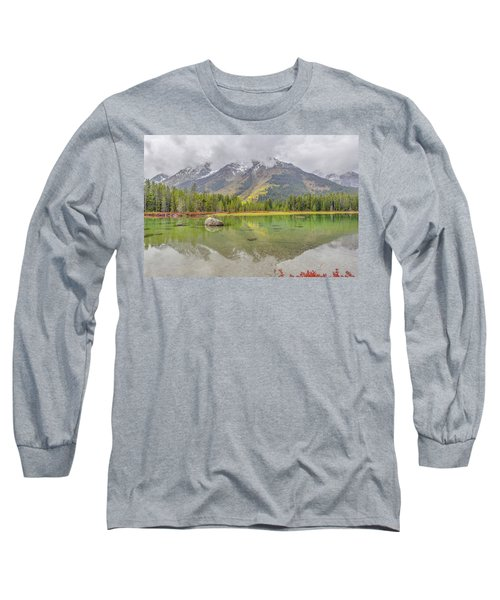 Fall Morning Along String Lake Long Sleeve T-Shirt