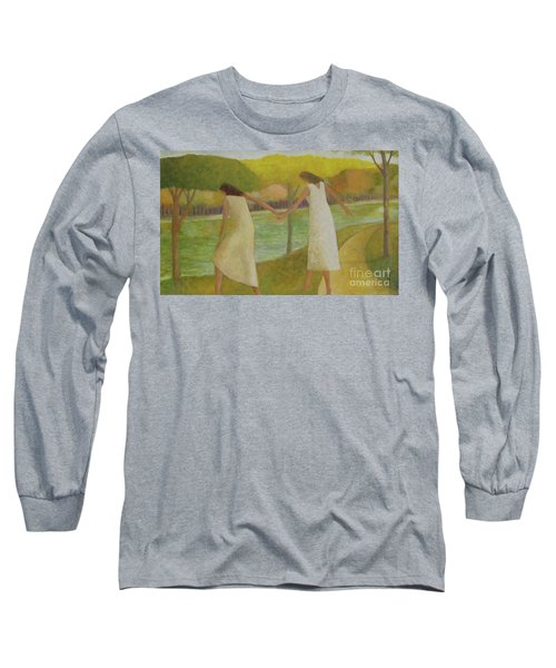 Long Sleeve T-Shirt featuring the painting Fall River by Glenn Quist