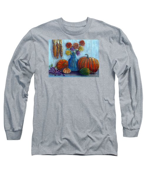 Long Sleeve T-Shirt featuring the painting Autumn Still Life by Lou Ann Bagnall