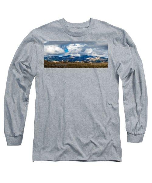 Fall Storm Clearing Off Pintada Mountain Long Sleeve T-Shirt by John Brink