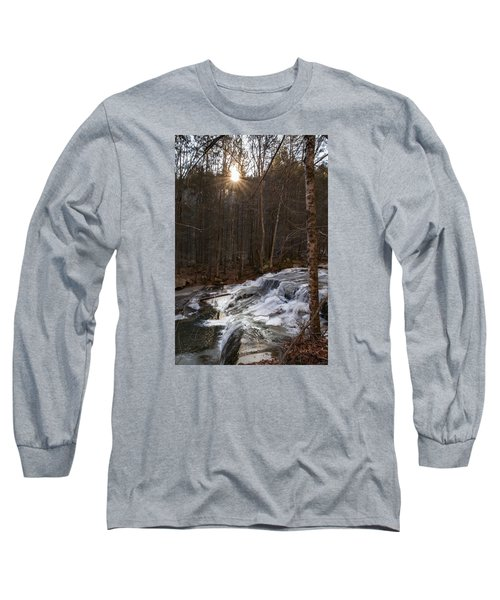 Fall Sunset On Stream Long Sleeve T-Shirt
