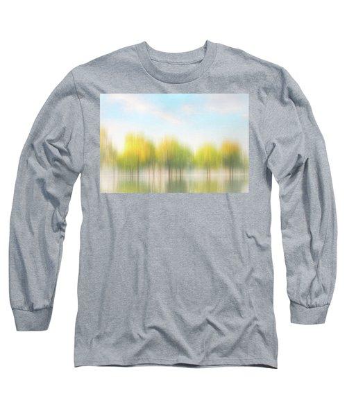 Fall Trees On Flooded Lake Long Sleeve T-Shirt by Robert FERD Frank