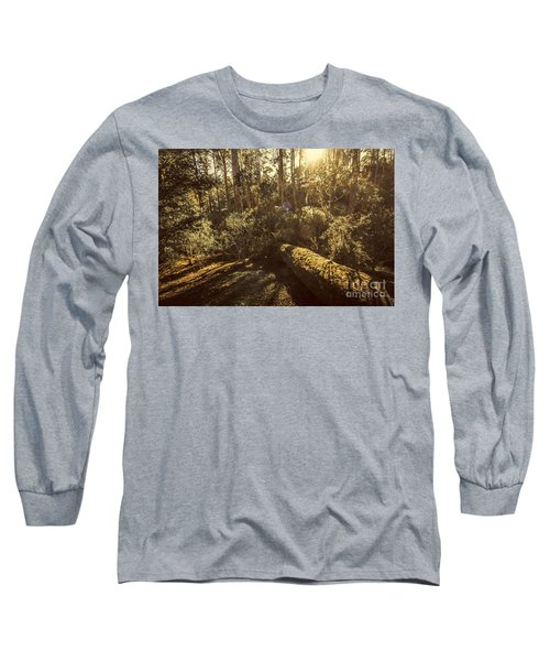 Fallen Tree In Foliage Long Sleeve T-Shirt