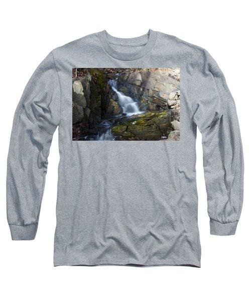 Long Sleeve T-Shirt featuring the photograph Falling Waters In February #2 by Jeff Severson