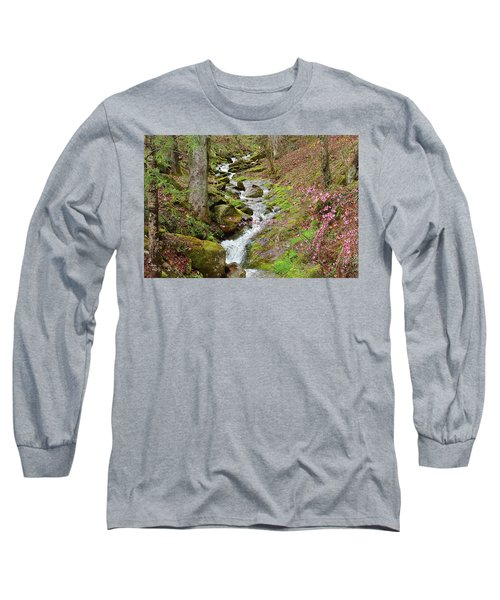 Falls Accented In Pink Long Sleeve T-Shirt