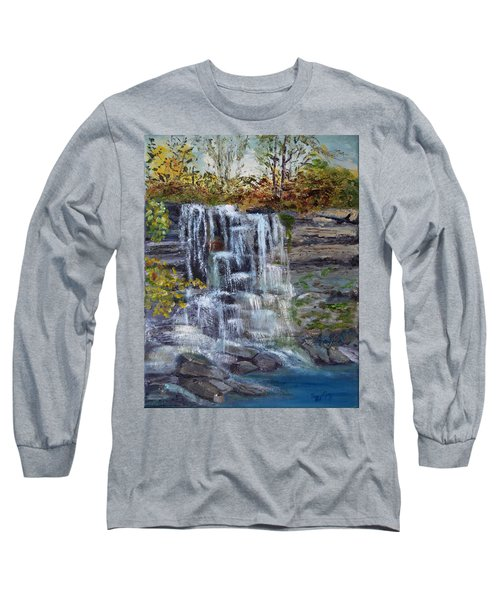 Falls At Rock Glen Long Sleeve T-Shirt